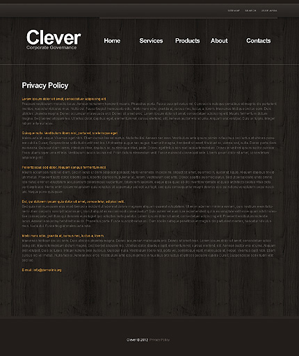 Template 39548 ( Privacy Policy Page ) ADOBE Photoshop Screenshot