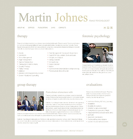 Template 39554 ( Services Page ) ADOBE Photoshop Screenshot