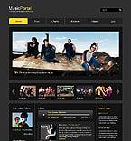 Music Website  Template 39557
