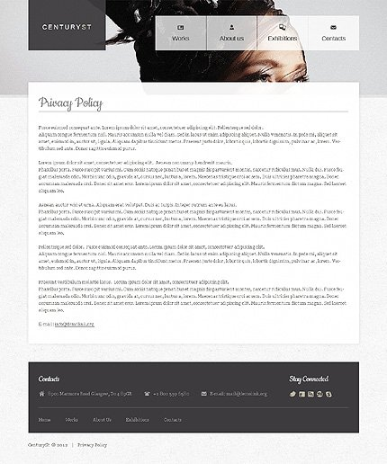 Template 39563 ( Privacy Policy Page ) ADOBE Photoshop Screenshot