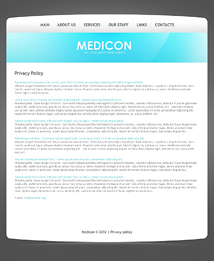 Template 39564 ( Privacy Policy Page ) ADOBE Photoshop Screenshot