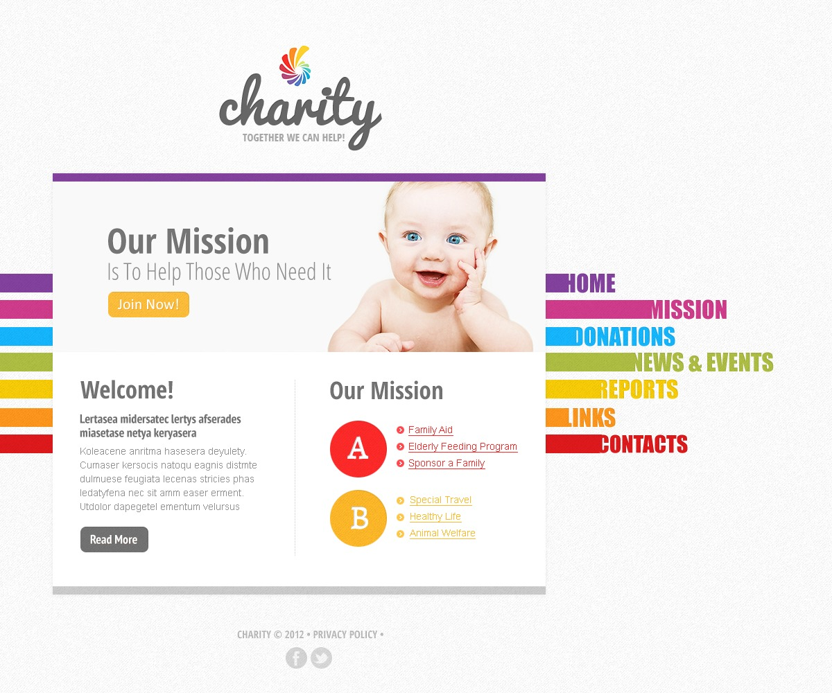Child Charity Website Template #39573 by WT - Website Templates