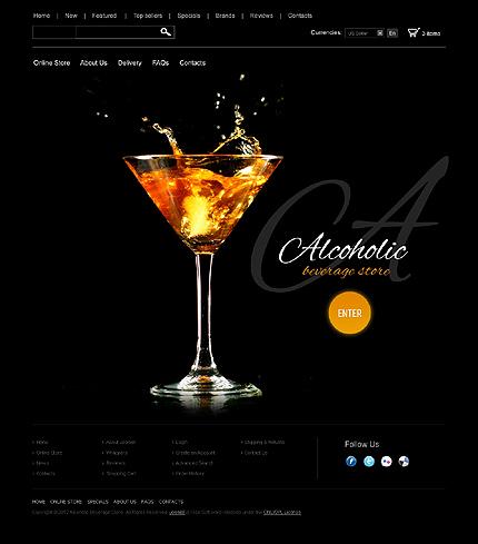 osCommerce Template 39588 Main Page Screenshot