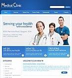 Medical Facebook Flash CMS  Template 39597