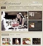 Cafe & Restaurant Facebook Flash CMS  Template 39598