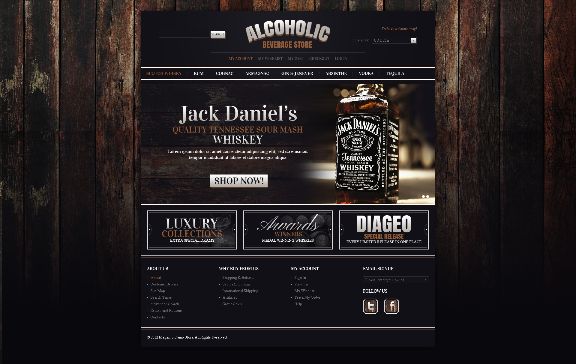 Alcohol Store OsCommerce Template #39589