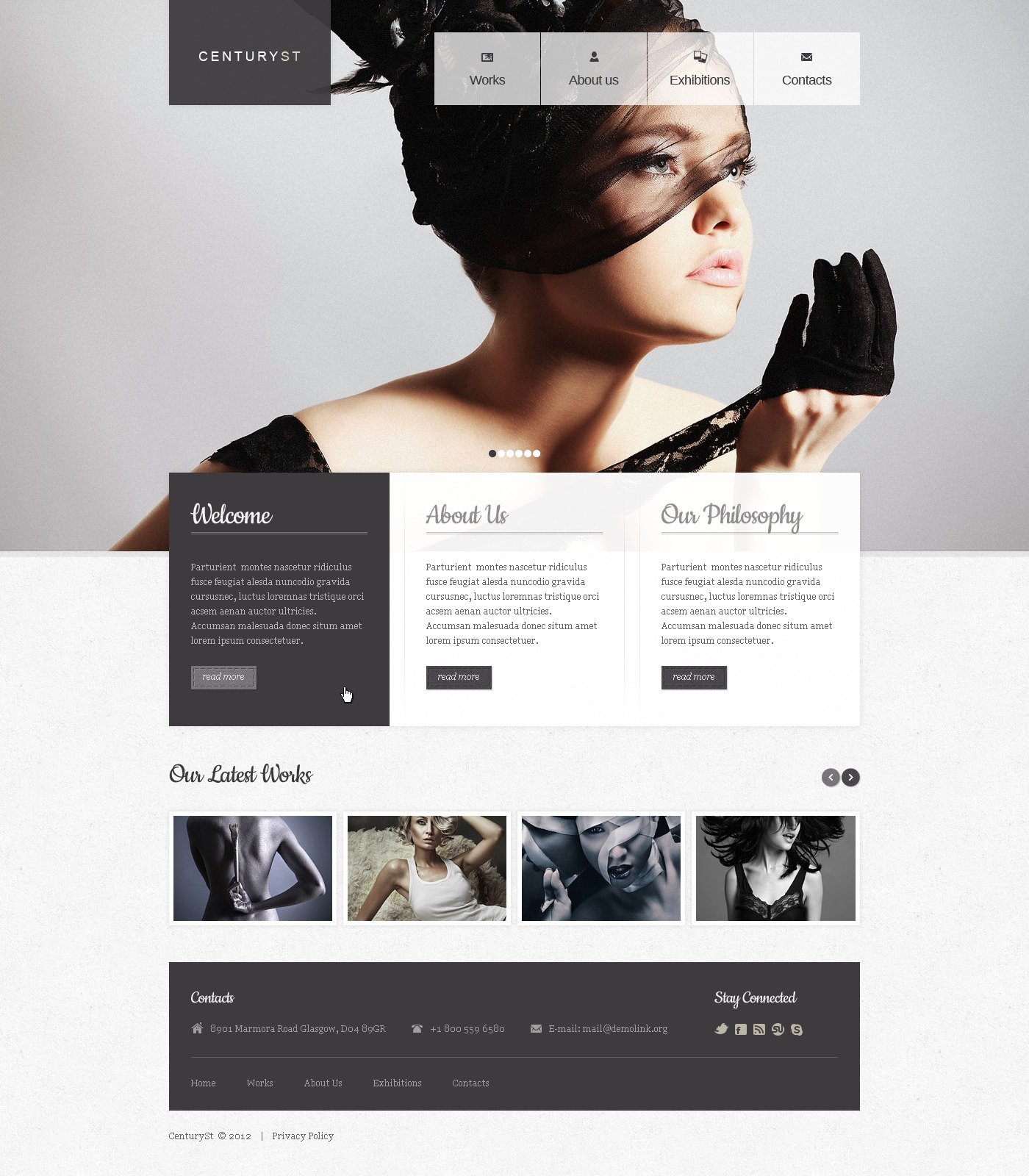 Photo Studio Website Template - Photography privacy policy template