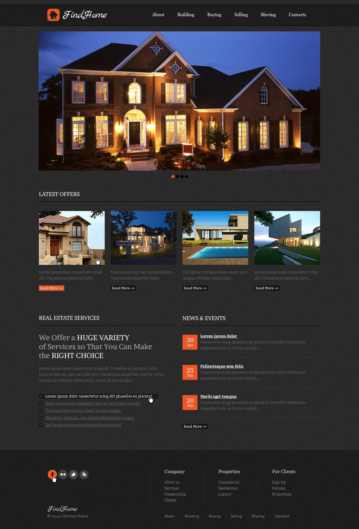 Real Estate Agency Website Template #39509