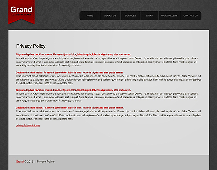 Template 39604 ( Privacy Policy Page ) ADOBE Photoshop Screenshot