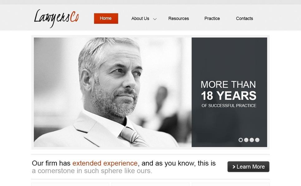 Responzivní Šablona webových stránek na téma Právnická společnost New Screenshots BIG