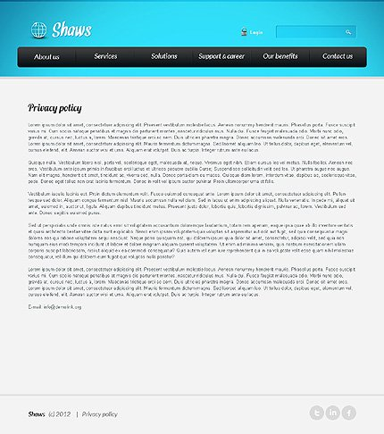 Template 39618 ( Privacy Policy Page ) ADOBE Photoshop Screenshot