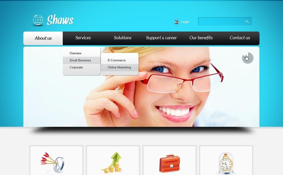 Szablon Strona Www #39618 na temat: biznes i usługi New Screenshots BIG
