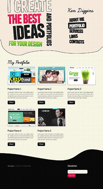 Template 39620 ( Portfolio Page ) ADOBE Photoshop Screenshot
