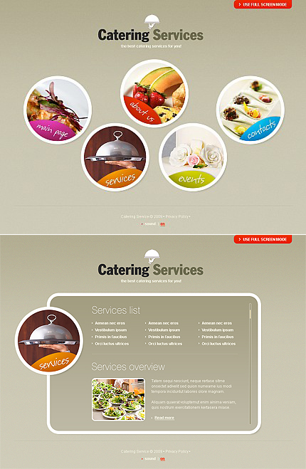 ADOBE Photoshop Template 39623 Home Page Screenshot