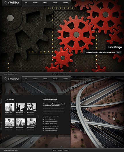 ADOBE Photoshop Template 39628 Home Page Screenshot