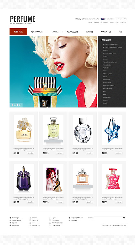 ZenCart Template 39631 Main Page Screenshot