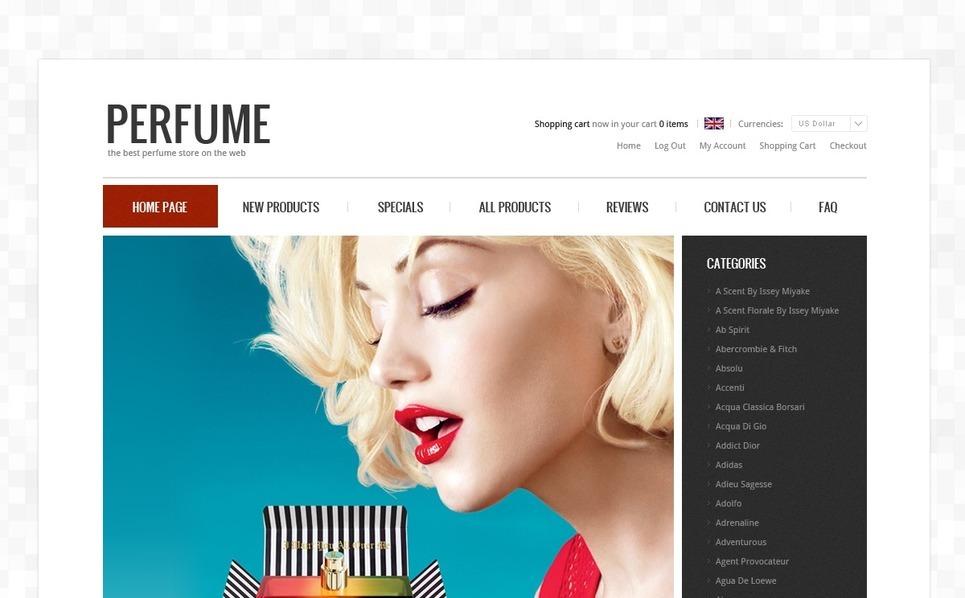 """Plantilla ZenCart """"Mejores Perfumes"""" New Screenshots BIG"""