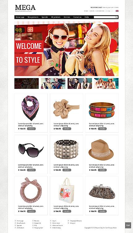 ZenCart Template 39632 Main Page Screenshot