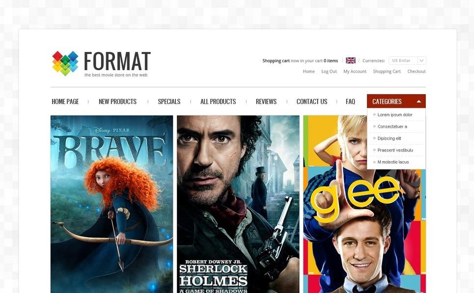 ZenCart template over DVD winkel  New Screenshots BIG