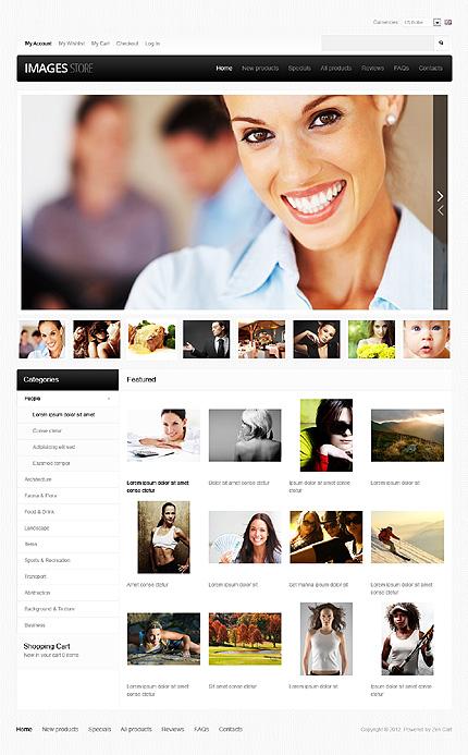 ZenCart Template 39636 Main Page Screenshot