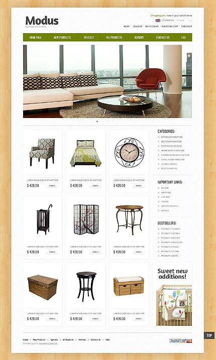 ZenCart Template 39637 Main Page Screenshot