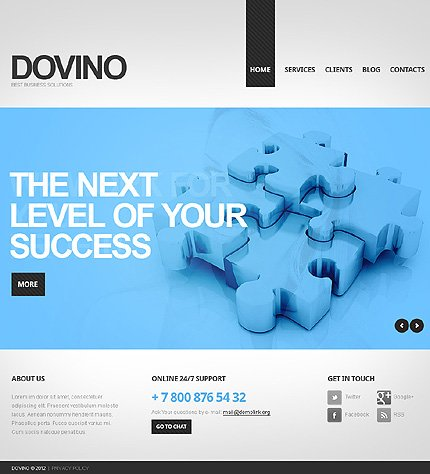 Drupal Template 39654 Main Page Screenshot