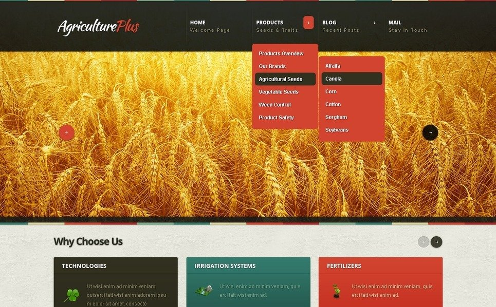 Template Drupal para Sites de Agricultura №39659 New Screenshots BIG