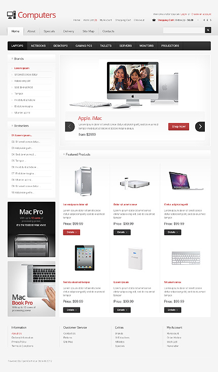ADOBE Photoshop Template 39661 Home Page Screenshot