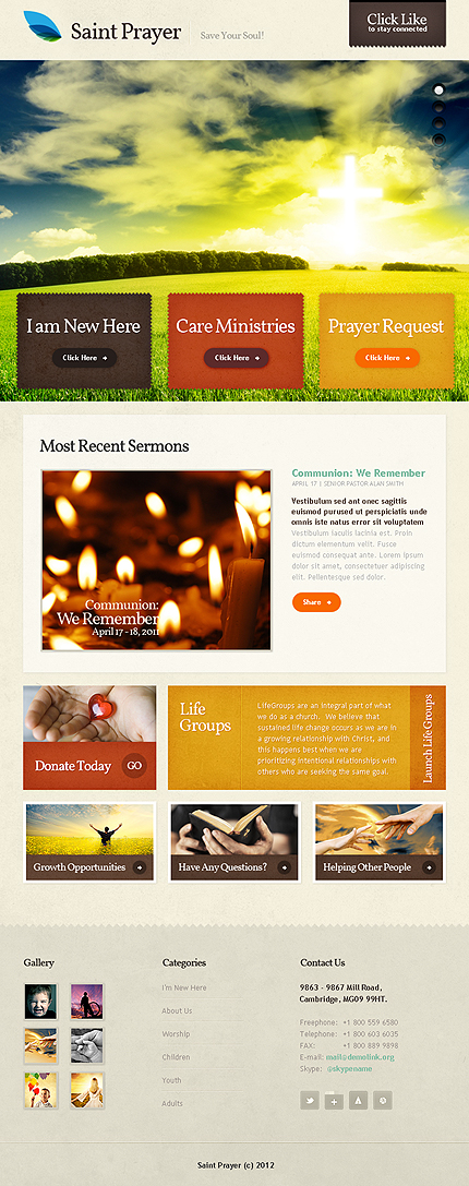 ADOBE Photoshop Template 39670 Home Page Screenshot