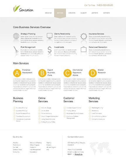 Template 39677 ( Services Page ) ADOBE Photoshop Screenshot