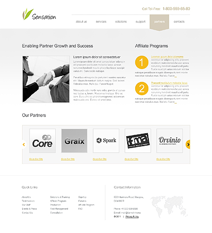 Template 39677 ( Partners Page ) ADOBE Photoshop Screenshot