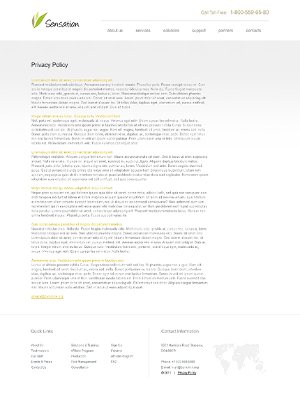 Template 39677 ( Privacy Policy Page ) ADOBE Photoshop Screenshot