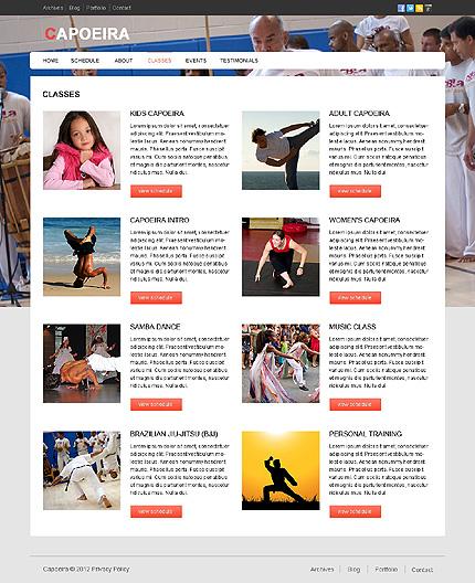 Template 39688 ( Classes Page ) ADOBE Photoshop Screenshot