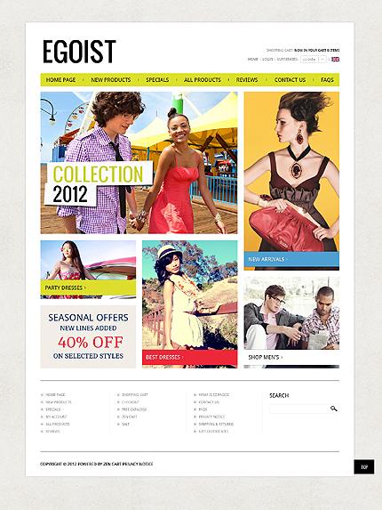 ZenCart Template 39691 Main Page Screenshot