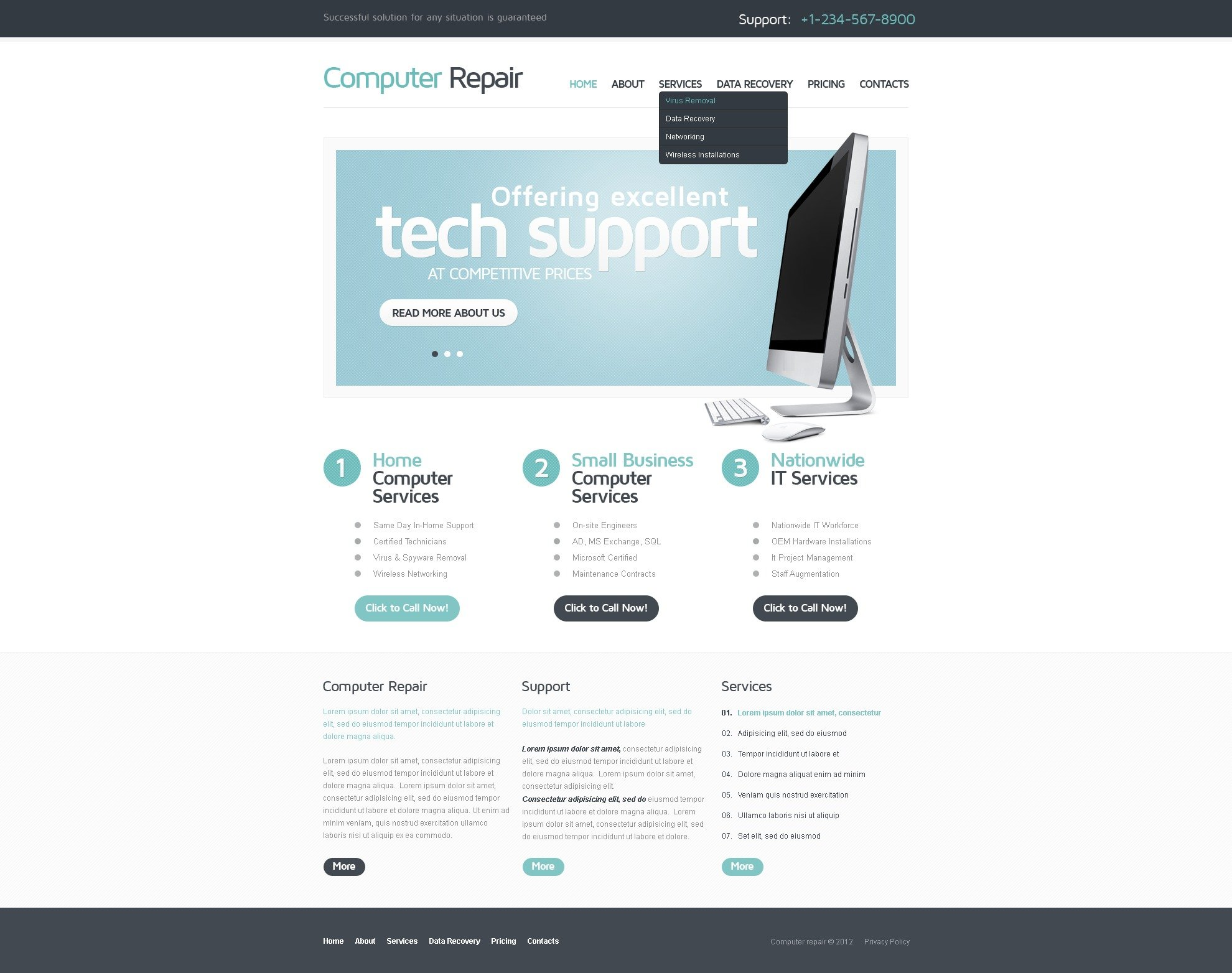 16+ Best Computer Repair Website Templates