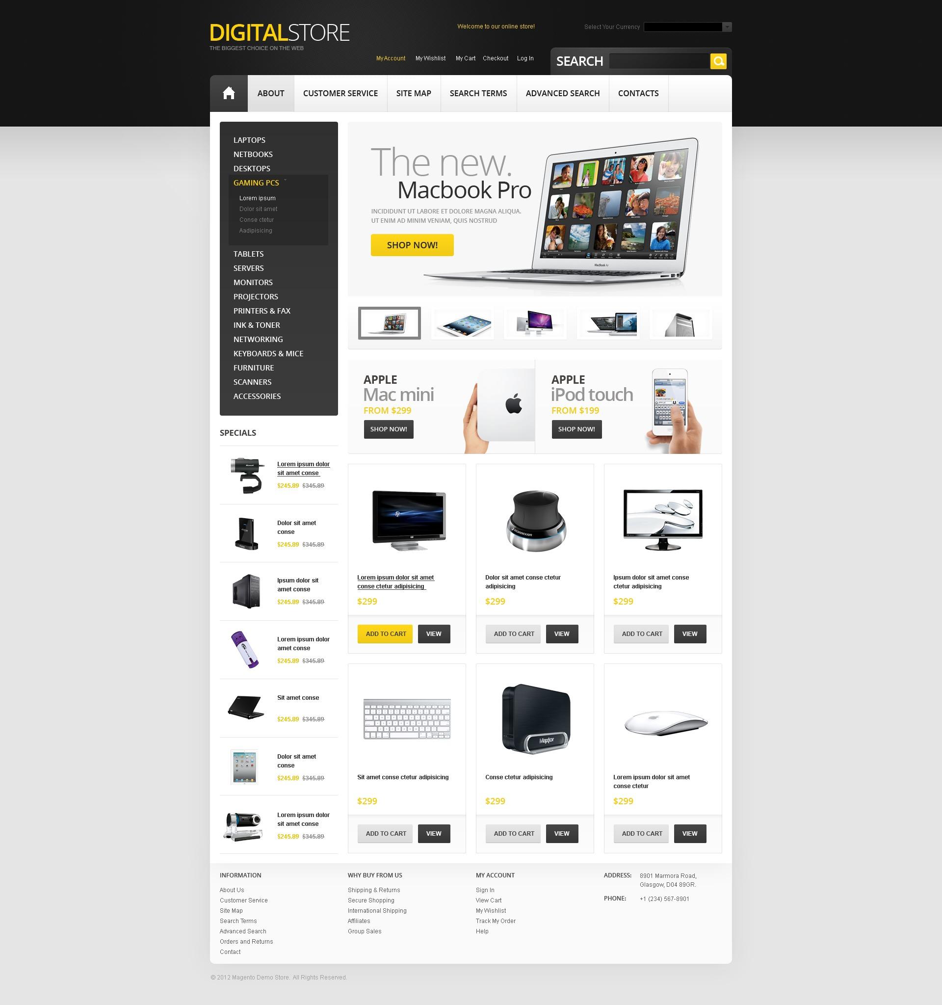 digital store magento theme 39649