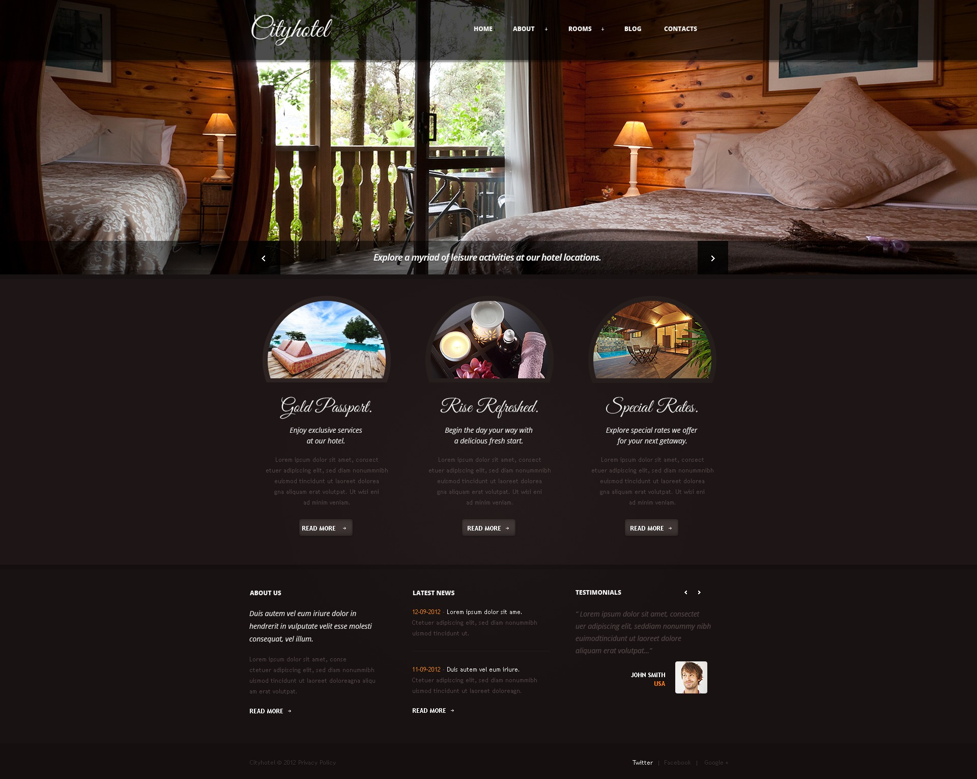 Download Free Hotel Website Template Freakify Com: Hotels Joomla Template #39685