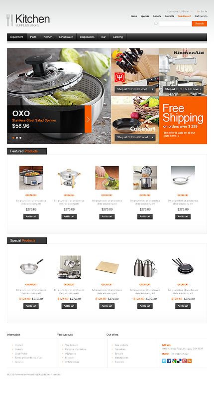 ADOBE Photoshop Template 39705 Home Page Screenshot