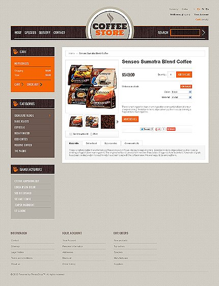 ADOBE Photoshop Template 39706 Home Page Screenshot