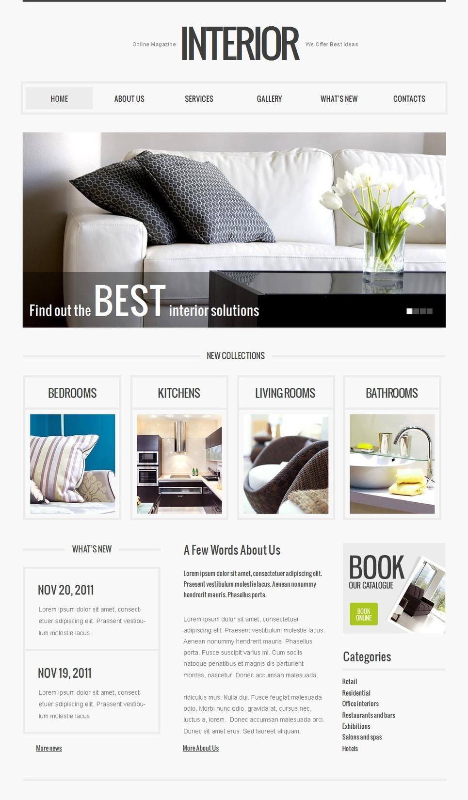 Online Interior Magazine Website Template - image