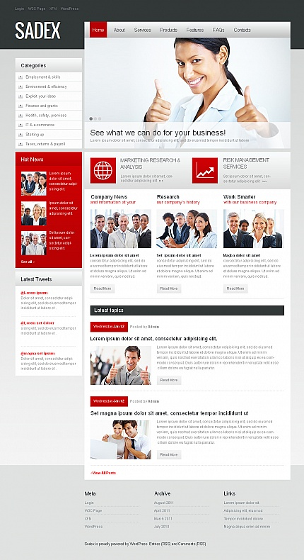 ADOBE Photoshop Template 39710 Home Page Screenshot