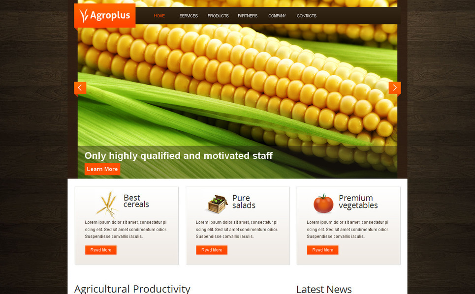 Template Moto CMS HTML para Sites de Agricultura №39711 New Screenshots BIG