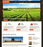 Agriculture Moto CMS HTML  Template 39711
