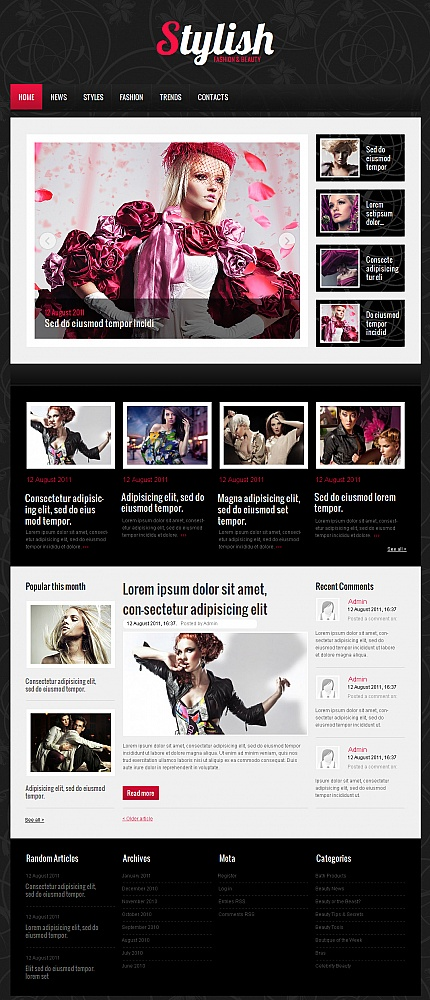 ADOBE Photoshop Template 39714 Home Page Screenshot