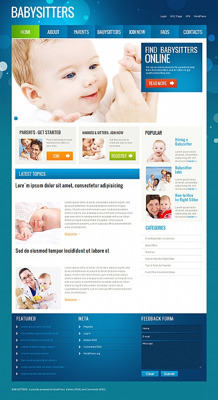 ADOBE Photoshop Template 39715 Home Page Screenshot