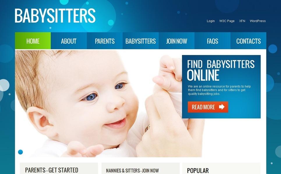 Moto CMS HTML šablona Domácí opatrovnice dětí New Screenshots BIG