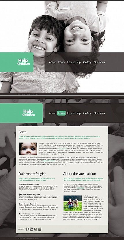 ADOBE Photoshop Template 39716 Home Page Screenshot