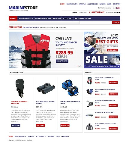 osCommerce Template 39717 Main Page Screenshot