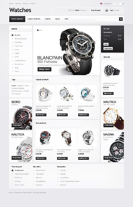 osCommerce Template 39718 Main Page Screenshot