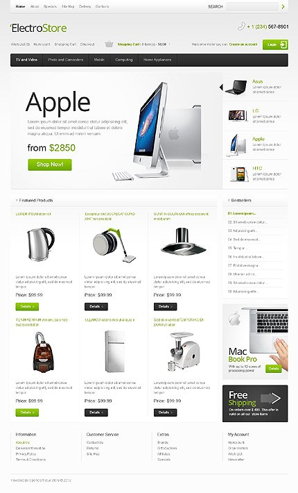 ADOBE Photoshop Template 39721 Home Page Screenshot